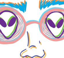 alien eyes color Sticker