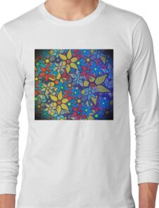 Trendy Floral Pattern Long Sleeve T-Shirt