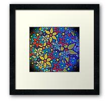 Trendy Floral Pattern Framed Print
