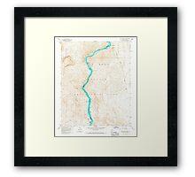 USGS TOPO Map Arizona AZ Willow Beach 314127 1959 24000 Framed Print