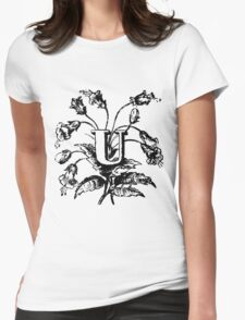 Plant Alphabet Letter U Womens Fitted T-Shirt