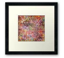 Beijing map Framed Print