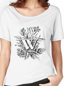 Plant Alphabet Letter W Women's Relaxed Fit T-Shirt