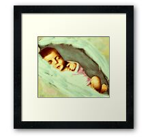 Wrapped in Wings Framed Print