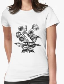 Plant Alphabet Letter X Womens Fitted T-Shirt