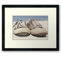 Sneakers old Framed Print