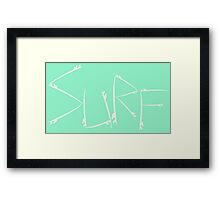 Surf [Cream] Framed Print