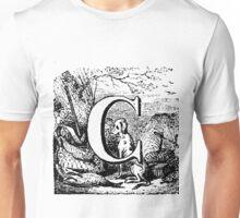 Renaissance Alphabet Letter C Unisex T-Shirt