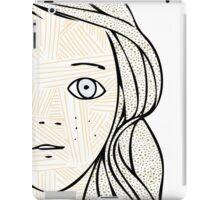 Girl with the sad eyes iPad Case/Skin
