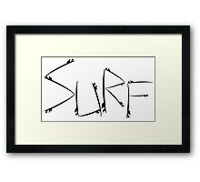 Surf [Black] Framed Print