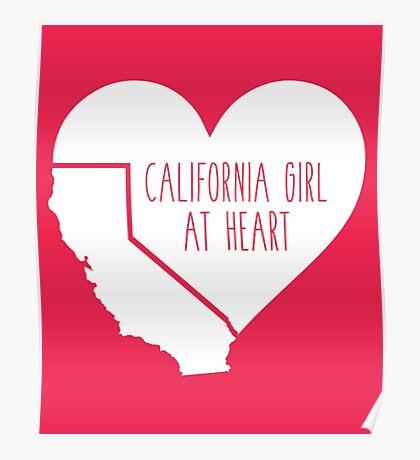 California Girl at Heart Poster