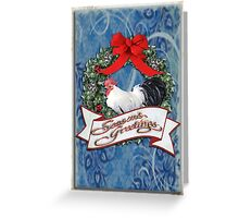 holiday chicken Greeting Card