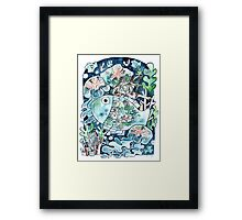 Deep Sea Diving Framed Print