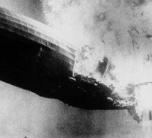 Hindenburg Disaster - Zeppelin Explosion Sticker