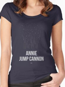 ANNIE JUMP CANNON (Light Lettering) - Clothing & Other Products Women's Fitted Scoop T-Shirt