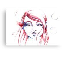 Bubbles - by Holly Elizabeth Canvas Print