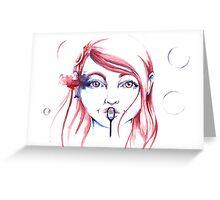 Bubbles - by Holly Elizabeth Greeting Card