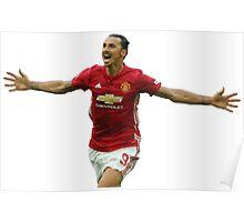 Zlatan Ibrahimovic - Manchester United Poster
