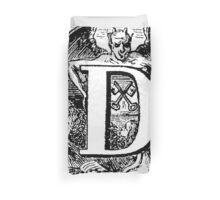 Renaissance Alphabet Letter D Duvet Cover