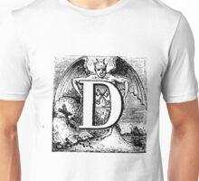 Renaissance Alphabet Letter D Unisex T-Shirt