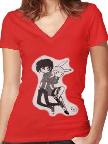 Fi and Marshall Lee Women's Fitted V-Neck T-Shirt