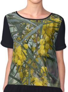 Australian Wattle Chiffon Top