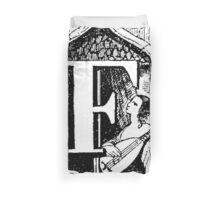 Renaissance Alphabet Letter F Duvet Cover