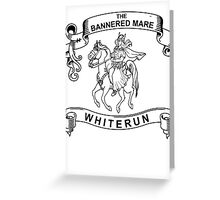 The bannered mare (Skyrim) Greeting Card