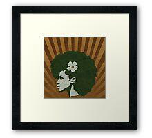 vintage Afro Framed Print