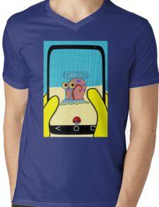 SpongeBob GO! Gary Snail Mens V-Neck T-Shirt