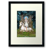 Crystal Fairy & Unicorn Framed Print