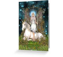 Crystal Fairy & Unicorn Greeting Card