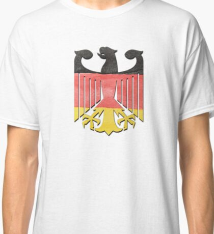 German Eagle Federal Coat of Arms in Germany Flag Water Colors Classic T-Shirt