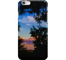 Moonlight in the trees iPhone Case/Skin