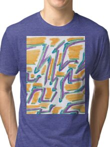 Lines and Color shadows Tri-blend T-Shirt