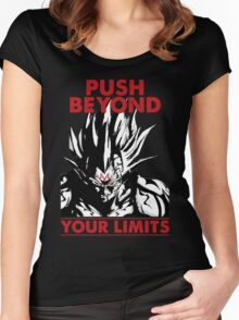super saiyan vegeta push beyond your limits - RB Women's Fitted Scoop T-Shirt
