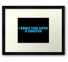 I Knew You Were A Griefer Framed Print