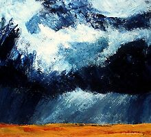Storm Clouds Over Illinois Wheat Fields Acrylics On Canvas by JamesPeart