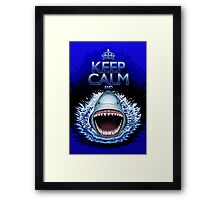 Keep Calm and...Shark Jaws Attack! Framed Print