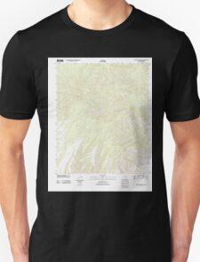 USGS TOPO Map Arizona AZ Willow Mountain 20111031 TM Unisex T-Shirt