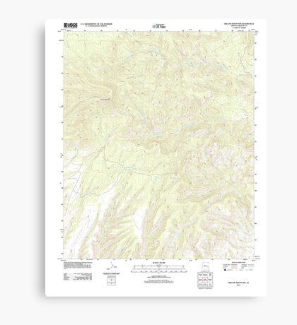 USGS TOPO Map Arizona AZ Willow Mountain 20111031 TM Canvas Print