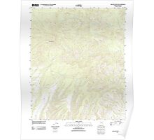 USGS TOPO Map Arizona AZ Willow Mountain 20111031 TM Poster
