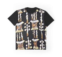 Drum Print Pattern Graphic T-Shirt