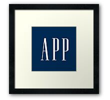 App (Gap parody) Framed Print