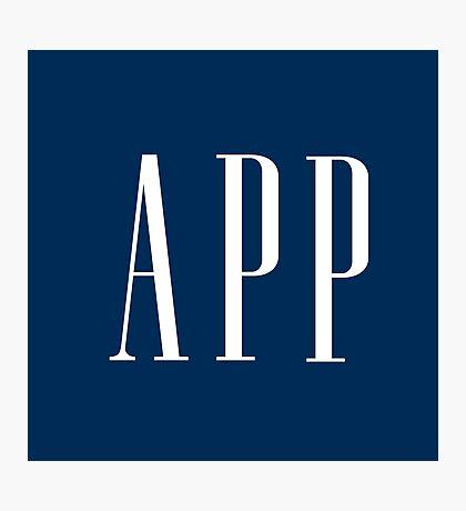 App (Gap parody) Photographic Print