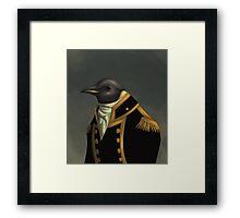Captain Penguin  Framed Print