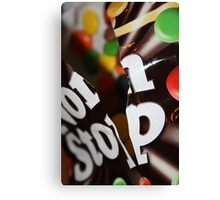 Non Stop Chocolate Canvas Print