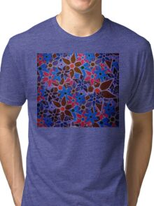 Trendy Floral Pattern Vintage Tri-blend T-Shirt