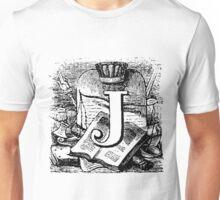 Renaissance Alphabet Letter J Unisex T-Shirt