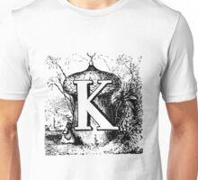 Renaissance Alphabet Letter K Unisex T-Shirt